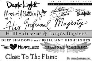 HIM albums songs lyrics brushe by heartagram-fr
