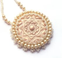 Mademoiselle necklace by moonsafaribeads