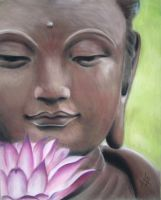 Bouddha and the Lotus by Altayr