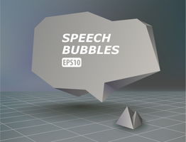 Abstract Speech Bubble by lazunov