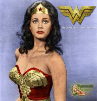 Lynda Carter | Wonder Woman | BW to Color by c-edward