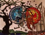 Jack and Fern: Stained Glass by IlliyanaZio