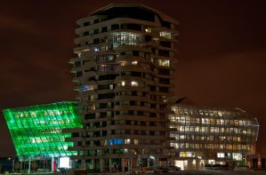 Marco Polo Tower at night by Bull04
