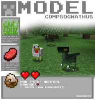 Minecraft - Compsognathus by Dragonith