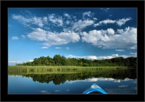 Kayaking on lake Nieslysz by Rajmund67