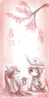 VS: Happy Spring festival by asahirureiko