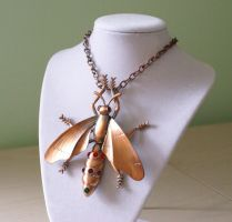 Garden Insect Necklace by foowahu-etsy