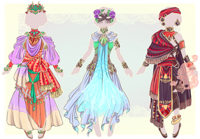:Comm: Outfits for Wintryabyss :set02: by MMtheMayo