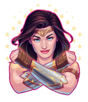 Wonder Woman by ribkaDory