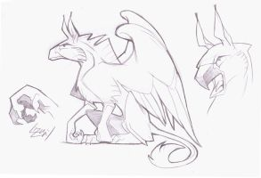 Simplyfied Gryphon Design by Lizkay
