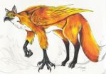 Fox Griffin by DragonCid