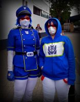 Seeing Double Soundwave Cosplays by KirstyTron