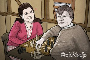 Mary and Roy Cropper play Chess Corrie by pickledjo
