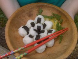 Onigiri with cherries by Pucca922