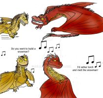 Toddler Dragons Smaug and Draco by Selinelle