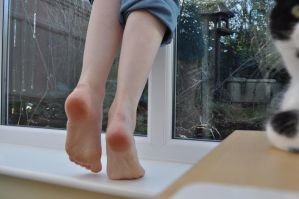 barefoot Around The House 4 by Foxy-Feet