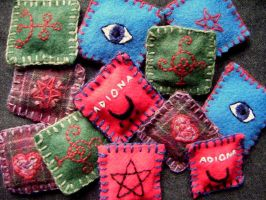 Wool Amulets by Lolair