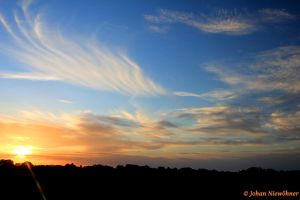 Sunset over Bretteville by jochniew