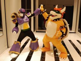 Vile and Bowser - Katsucon 2014 by TheKaijin