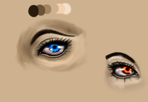Eye Study Using Tutorial by AstianaLouise