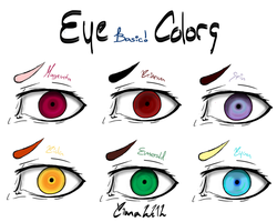 Basic Eye Colors by Dark-funhouse