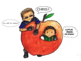 Chris in the apple by halfeyetyranny