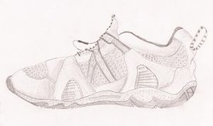 Sketch of my right shoe by jackmandu