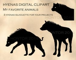 Hyenas clipart by hontor