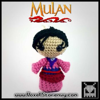 Mulan Small Plush by VoxelPerlers