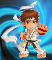 Street Fighter Chibi Ryu by AzuraLine