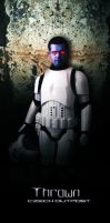 Thrawn in stormtrooper armor by DromCZ