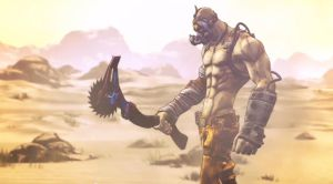 Just me and my axe (Krieg Borderlands 2) by BioClay88