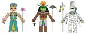 Egyptian Mythology Minimates 3 by Chazwinski