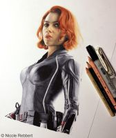 Black Widow WIP by Quelchii