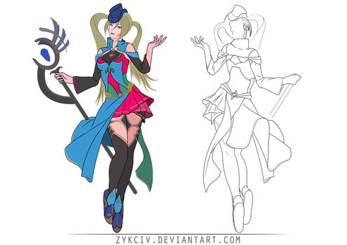 Magical Girl Concept Art by Zykciv
