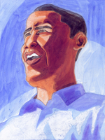 Obama painting by IkeDaArtist