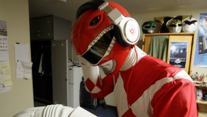 RED RANGER WITH BEATS by KellHiro