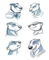 Badger Faces by Temiree