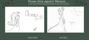 Amy: Draw this again meme! by CaTaLiDe