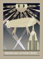 Imperial Airship Service Art Deco Poster by The-Necromancer