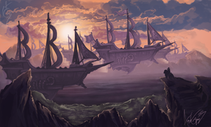 The Commander's Armada by BeanyCoffee