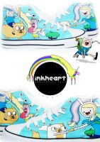Adventure Time High Tops by felixartistixcouk
