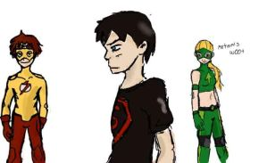 Young Justice Sketches 2 by EndlessDestiny