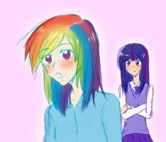 MLP -rainbow dash and twiligh sparkle- by cheryl-jum