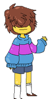Frisk Pixel by Gavvy--Jones