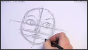 Learn How to Draw Young Girl's Face 007 by drawingcourse