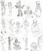 New/Redesigned/Revealed Character Sketch Dump by AnimalCreation
