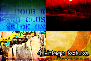 Vintage Texture Pack of 4 by spacecowboyyy