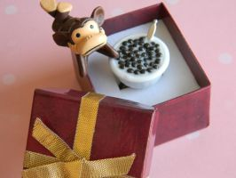 Cocoa Puffs Cereal Bowl Ring-General Mills by ThePetiteShop