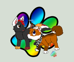 Michu and Terri meet Minish by CyphonFiction